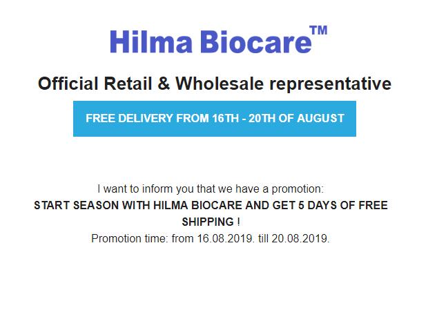Hilma Biocare free delivery
